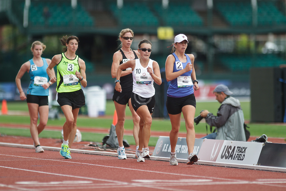 Olympic Trials Eugene 2012: women's 20,000 meter race walk, Melville leads Forgues, Dow