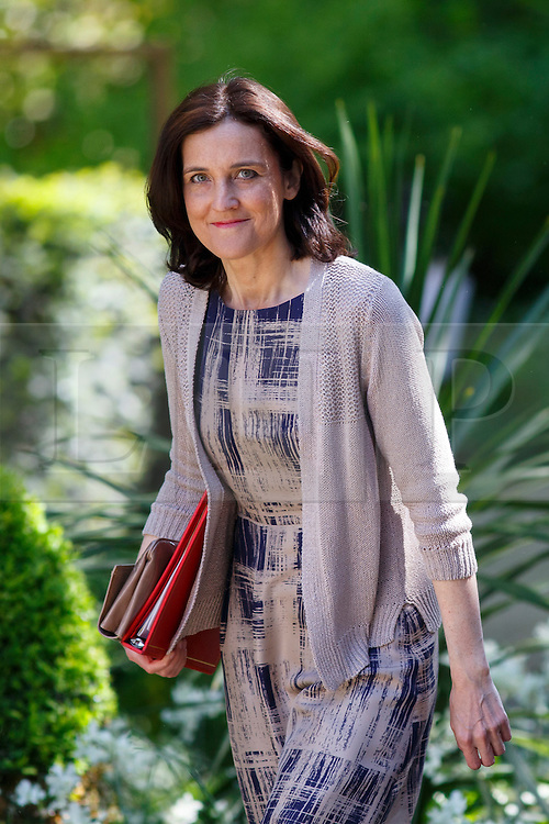 © Licensed to London News Pictures. 12/05/2015. LONDON, UK. Northern Ireland Secretary Theresa Villiers attending to the first Conservative cabinet meeting after the 2015 general election in Downing Street on Tuesday, 12 May 2015. Photo credit: Tolga Akmen/LNP