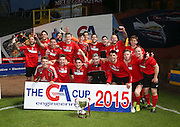 Tayport celebrate with the trophy after beating North End 4-1 in the GA Engineering Cup Final at Tannadice<br /> <br />  - &copy; David Young - www.davidyoungphoto.co.uk - email: davidyoungphoto@gmail.com