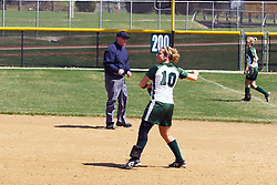05 April 2008:  Valerie Hackett. The Carthage College Lady Reds lost the first game of this double header to the Titans of Illinois Wesleyan 4-1 at Illinois Wesleyan in Bloomington, IL
