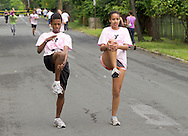 Middletown, New York - Runners compete in the 16th annual Ruthie Dino-Marshall 5K Run/Walk put on by the Middletown YMCA on Sunday, June 10, 2012. ©Tom Bushey / The Image Works