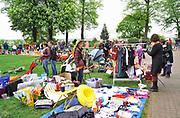 Nederland, the Netherlands, Nijmegen, 27-4-2018Koningsdag. Vrijmarkt op het Valkhof.Foto: Flip Franssen