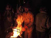 High Desert Test Sites 2013. Bonfire in Arcosanti, AZ.
