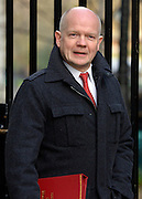 © Licensed to London News Pictures. 05/02/2013. Westminster, UK Foreign Secretary.William Hague Cabinet Ministers arrive for the weekly Cabinet meeting on 5th February 2013. Photo credit : Stephen Simpson/LNP