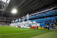 2019-09-01 | Solna, Sweden: Djurgårdens tifo during the game between AIK and Djurgårdens IF at Friends Arena ( Photo by: Simon Holmgren | Swe Press Photo )<br /> <br /> Keywords: Friends Arena, Solna, Soccer, Allsvenskan, AIK, Djurgårdens IF