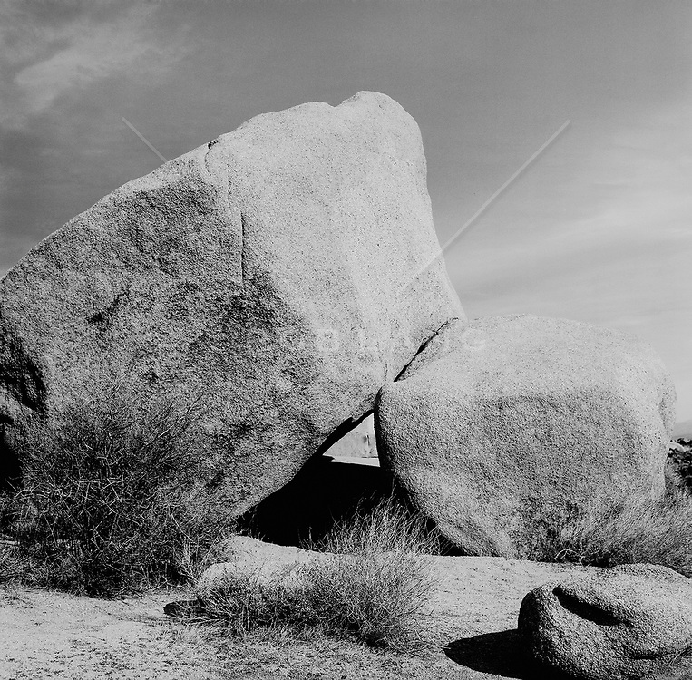 Rocks against sky in Joshua Tree, CA