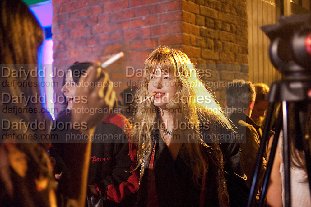 PHILIPPA HORAN, Giles Deacon after-show party. Elm lester painting rooms. Leicester Sq. London. 19 September 2011. <br /> <br />  , -DO NOT ARCHIVE-© Copyright Photograph by Dafydd Jones. 248 Clapham Rd. London SW9 0PZ. Tel 0207 820 0771. www.dafjones.com.