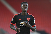 Manchester United Axel Tuanzebe during the Barclays U21 Premier League match between U21 Southampton and U21 Manchester United at the St Mary's Stadium, Southampton, England on 25 April 2016. Photo by Phil Duncan.