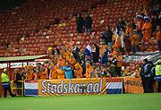 9th November 2017, Pittodrie Stadium, Aberdeen, Scotland; International Football Friendly, Scotland versus Netherlands; Dutch fans
