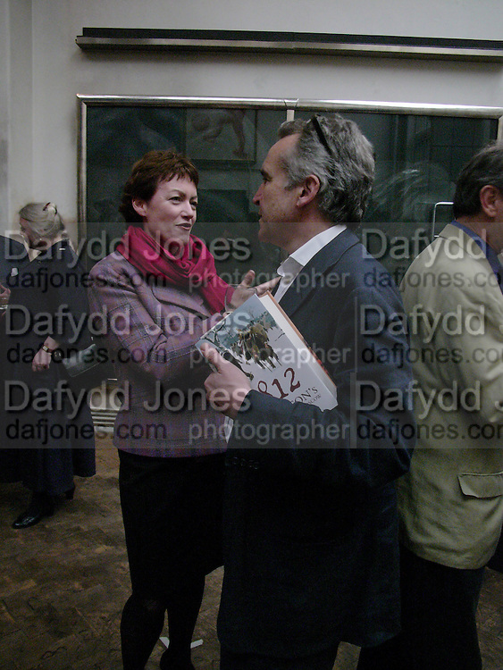 Susy Topolski and Stephen Bayley, 1812 Napoleon's Fatal March on Moscow by Adam Zamoyski book launch. Avenue Studios. Fulham Rd. 5 April 2004. ONE TIME USE ONLY - DO NOT ARCHIVE  © Copyright Photograph by Dafydd Jones 66 Stockwell Park Rd. London SW9 0DA Tel 020 7733 0108 www.dafjones.com