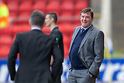 Tommy Wright, manager of St Johnstone FC is all smiles during the Ladbrokes Scottish Premiership match between St Johnstone and Motherwell at McDiarmid Stadium, Perth, Scotland on 11 May 2019.