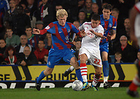 Football - Carling Cup Round 1 - Crystal Palace vs. Crawley Town 23/08/2011 Jonathan Parr (Palace) has his shirt pulled by Scott Neilson (Crawley)<br />  Credit : Colorsport / Andrew Cowie