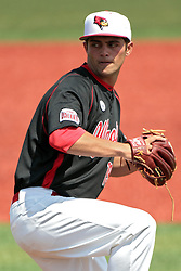 26 April 2014:  Dylan Craig during an NCAA Division 1 Missouri Valley Conference (MVC) Baseball game between the Southern Illinois Salukis and the Illinois State Redbirds in Duffy Bass Field, Normal IL