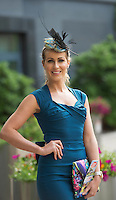 07/07/2014<br /> Catwalk Model Mary Lee  representing Anthony Ryans at the launch of the Galway Races Summer Festival at the Radisson Blu Hotel Galway. Photo:Andrew Downes