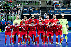 Players of team Russia during futsal semifinal match between National teams of Russia and Portugal at Day 9 of UEFA Futsal EURO 2018, on February 8, 2018 in Arena Stozice, Ljubljana, Slovenia. Photo by Urban Urbanc / Sportida