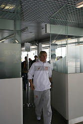 25.05.2010, Airport Salzburg, Salzburg, AUT, WM Vorbereitung, Serbien Ankunft im Bild Krasic bei der Passkontrolle, Nationalteam Serbien, EXPA Pictures © 2010, PhotoCredit EXPA R. Hackl / SPORTIDA PHOTO AGENCY