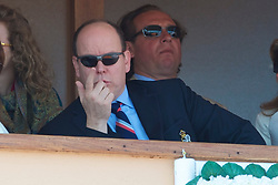 MONTE-CARLO, MONACO - Sunday, April 18, 2010: Prince Albert II, Sovereign Prince of Monaco, during the Men's Singles Final on day seven of the ATP Masters Series Monte-Carlo at the Monte-Carlo Country Club. (Photo by David Rawcliffe/Propaganda)