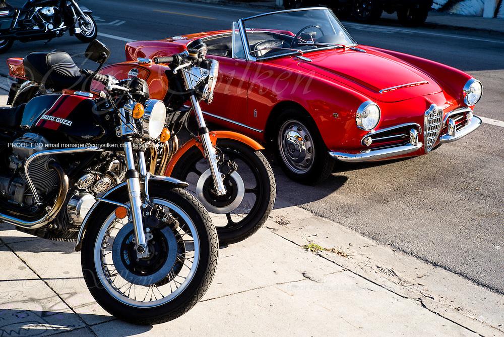 Classic red Alfa Romeo Spider