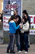 Roma 7 Aprile 2008 .800 persone senza casa del Blocco Precario Metropolitano hanno occupato un complesso residenziale di 190 appartamenti al Quartiere Bufalotta.800 people  Block Precarious Metropolitan occupied a residential complex of 190 apartments on the District Bufalotta