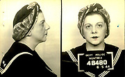 Prostitutes And Madams: Mugshots From When Montreal Was Vice Central<br /> <br /> Montreal, Canada, 1949. Le Devoir publishes a series of articles decrying lax policing and the spread of organized crime in the city. Written by campaigning lawyer Pacifique 'Pax' Plante (1907 – 1976) and journalist Gérard Filion, the polemics vow to expose and root out corrupt officials.<br /> <br /> With Jean Drapeau, Plante takes part in the Caron Inquiry, which leads to the arrest of several police officers. Caron JA's Commission of Inquiry into Public Morality began on September 11, 1950, and ended on April 2, 1953, after holding 335 meetings and hearing from 373 witnesses. Several police officers are sent to prison.<br /> <br /> During the sessions, hundreds of documents are filed as evidence, including a large amount of photos of places and people related to vice.  photos of brothels, gambling dens and mugshots of people who ran them, often in cahoots with the cops – prostitutes, madams, pimps, racketeers and gamblers.<br /> <br /> Photo shows: Lucie Delicato Bizante, 6 mai 1944. Lucie Delicato Bizante, was one of the three principal tenants in Montreal during the Second World War. She was an important witness of the Caron Commission.<br /> ©Archives de la Ville de Montréal/Exclusivepix Media