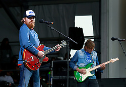 03 May 2013. New Orleans, Louisiana,  USA. .New Orleans Jazz and Heritage Festival. .Marc Broussard takes to the Acura stage..Photo; Charlie Varley.