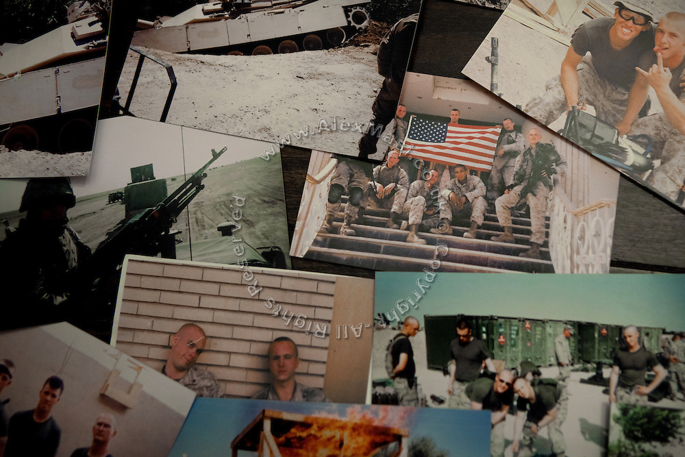 Personal pictures are seen in the house of Curtis Hice, 27, in Winchester, Tennessee, where he works at Social Security office. He lives with his wife and 2-year-old daughter. Curtis was a Marine combat engineer and fought during the first battle for Fallujah. After returning to the USA, he became more devoted and turned into religion. He is now the solo singer at his community church.