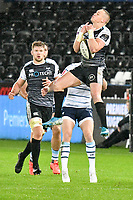 Rugby Union - 2019 / 2020 Guinness Pro14 - Ospreys vs. Cardiff Blues<br /> <br /> Dan Evans of Ospreys leaps for the ball at The Liberty Stadium.<br /> <br /> COLORSPORT/WINSTON BYNORTH