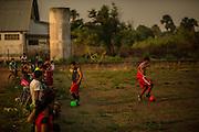 Xerente tribesmen  in the village of Tocantinia, Brazil, Sunday, 49, 2015. (Hilaea Media/ Dado Galdieri)