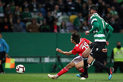 February 3, 2019 - Lisbon, Portugal - Benfica's Portuguese forward Joao Felix shoots to score during the Portuguese League football match Sporting CP vs SL Benfica at Alvalade stadium in Lisbon, Portugal on February 3, 2019. (Credit Image: © Pedro Fiuza/ZUMA Wire)
