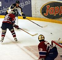 Ishockey , UPC serien , 24 januar 2005  , Kristins hall<br /> Lillehammer  v  Stavanger Oilers<br /> <br /> <br /> Teemu Kohvakka , Stavanger Oilers