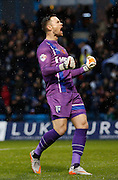 Gillingham FC goalkeeper Stuart Nelson celebrates gillingham getting  a second goal during the Sky Bet League 1 match between Gillingham and Bury at the MEMS Priestfield Stadium, Gillingham, England on 14 November 2015. Photo by Andy Walter.
