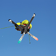 Vincent Gagnier, Canada, in action during the Freeski Slopestyle Men's Final at Snow Park, New Zealand during the Winter Games. Wanaka, New Zealand, 18th August 2011. Photo Tim Clayton