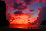 Sunset on Hat Rai Leh West Beach
