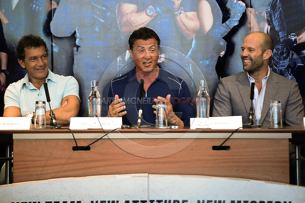 "LONDON, ENGLAND, AUGUST 4, 2014:  during the press conference ahead of the world premier of ""Expendables 3"" inside the Corinthia hotel in London(© Martin McNeil)"