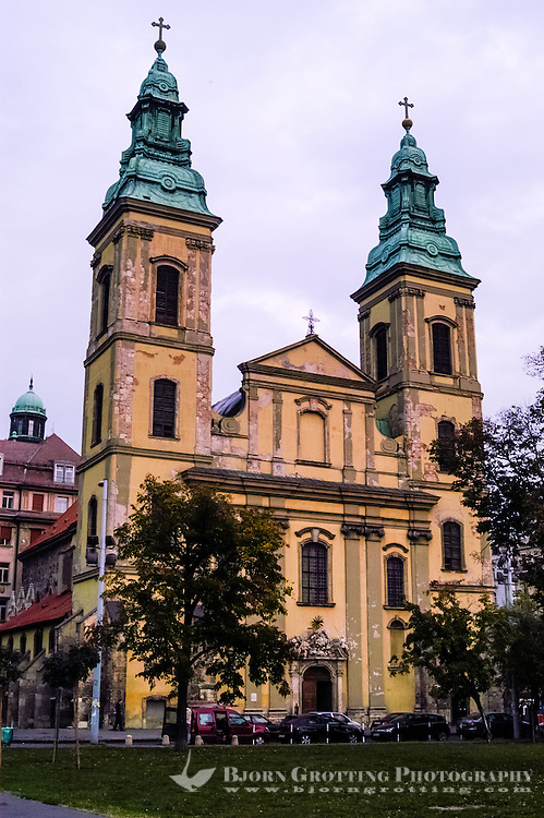 Budapest, Hungary.  The Inner City Parish Church, or Belvárosi Plebaniatemplom.