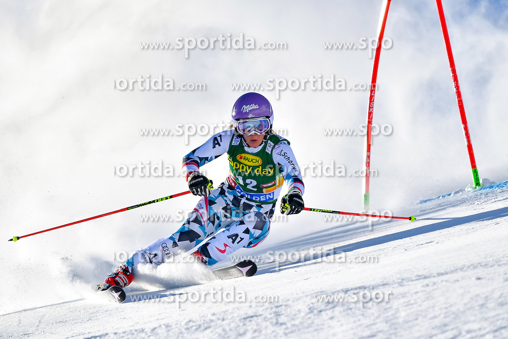 22.10.2016, Rettenbachferner, Soelden, AUT, FIS Weltcup Ski Alpin, Soelden, Riesenslalom, Damen, 1. Durchgang, im Bild Michaela Kirchgasser (AUT) // Michaela Kirchgasser of Austria in action during 1st run of ladies Giant Slalom of the FIS Ski Alpine Worldcup opening at the Rettenbachferner in Soelden, Austria on 2016/10/22. EXPA Pictures &copy; 2016, PhotoCredit: EXPA/ Nisse Schmid<br /> <br /> *****ATTENTION - OUT of SWE*****