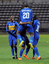 Cape Town 18-03-03 Cape Town City players celebrating after Lyle Lakay  scored against chippa united in the PSL Game In Athlone Staduim Pictures Ayanda Ndamane African news agency/ANA