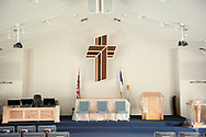 After Hurricane Irma, Trinity Lutheran Church, Lake Placid, Florida.