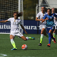 ORLANDO, FL - OCTOBER 25: Alex Morgan #13 of USWNT kicks the ball during a women's international friendly soccer match between Brazil and the United States at the Orlando Citrus Bowl on October 25, 2015 in Orlando, Florida. (Photo by Alex Menendez/Getty Images) *** Local Caption *** Alex Morgan