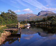 Peaceful scene on the Caledonian Canal with Ben Nevis in view, Lochaber