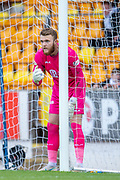 Zander Clark (#1) of St Johnstone FC lines up a wall during the Ladbrokes Scottish Premiership match between St Johnstone and Motherwell at McDiarmid Stadium, Perth, Scotland on 11 May 2019.