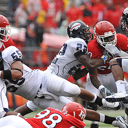 Sep 12, 2009; Piscataway, NJ, USA; Howard wide receiver Brandon Sherman (8) returns a kickoff during the first half of Rutgers' 45-7 victory over Howard in NCAA College Football at Rutgers Stadium.