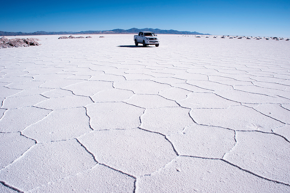 Salt lakes in Jujuy, Argentina.