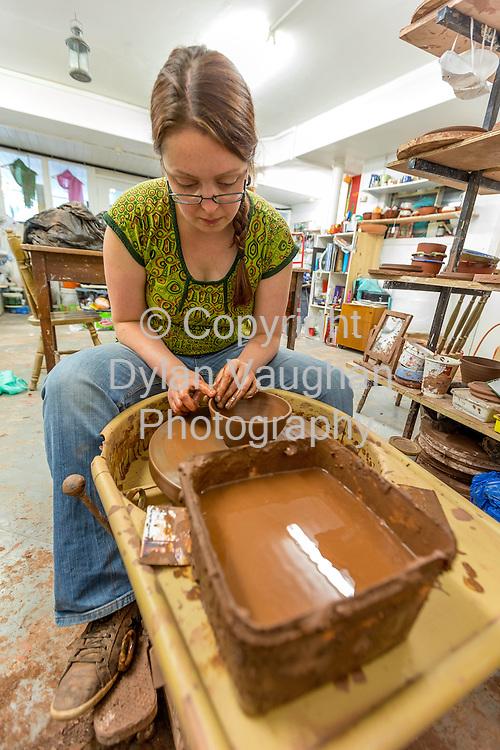24/7/2013<br /> <br /> Helen Faulkner at Karen Morgan Studio in Thomastown Co. Kilkenny.<br /> Picture Dylan Vaughan.