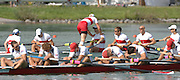 Munich, GERMANY, 02.09.2007,   A Final, CAN M8+   celebrate a Gold  medal in the Men's eight final  at the 2007 World Rowing Championships, taking place on the  Munich Olympic Regatta Course, Bavaria. [Mandatory Credit. Peter Spurrier/Intersport Images]  Bow Kevin LIGHT, Ben RUTLADGE, James BYRNES, Jake WETZEL, Malcom HOWARD, Dominic SEITERLE, Adam KREEK stroke Kyle HAMILTON and cox Brian PRICE , Rowing Course, Olympic Regatta Rowing Course, Munich, GERMANY