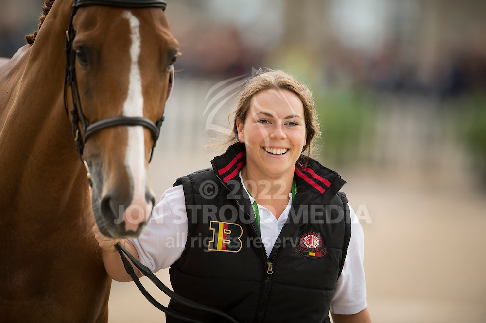 Karin Donckers, (BEL), Lamicell Unique - First Horse Inspection  - Alltech FEI World Equestrian Games&trade; 2014 - Normandy, France.<br /> &copy; Hippo Foto Team - Shannon Brinkman<br /> 25/06/14
