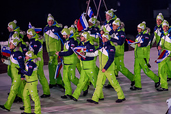 09-02-2018 KOR: Olympic Games day -1, PyeongChang<br /> Openingsceremonie Pyeongchang 2018 Olympic Winter Games / Slovenie