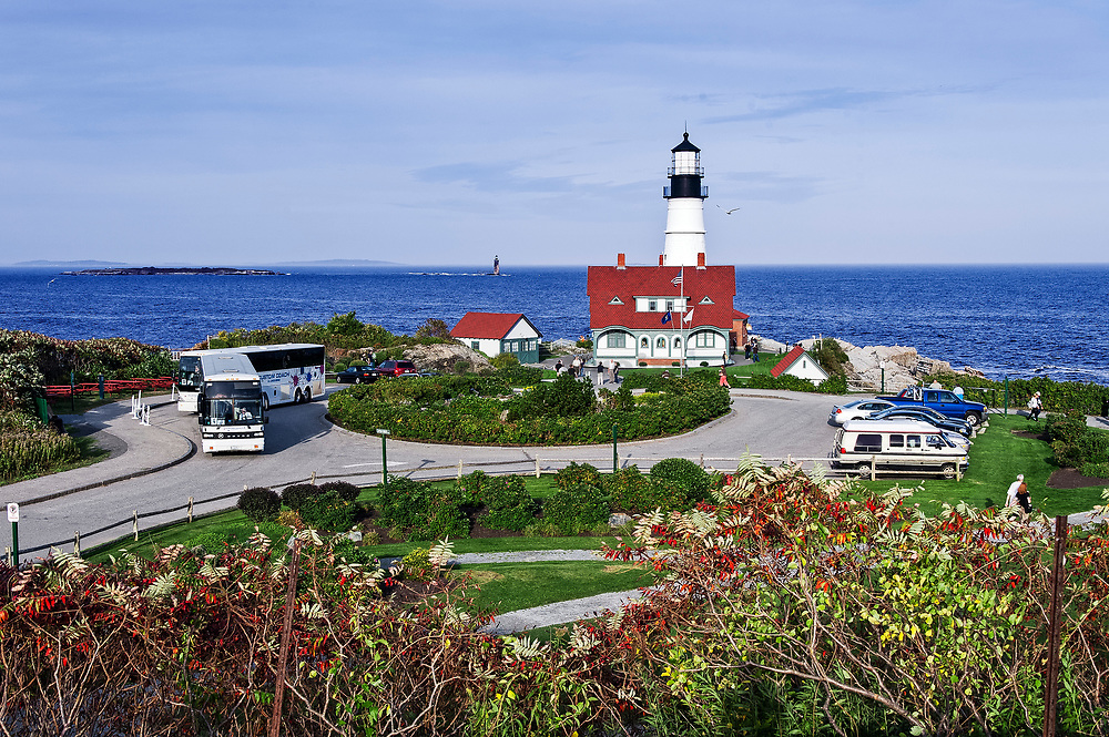 Portland Head Light Station, Cape Elizabeth, Maine, USA.