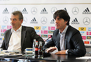 Former German Football Association president Wolfgang Niersbach (pictured left with Germany manager Joachim Low) is facing a two-year ban from all football-related activity.<br /> The independent ethics committee of world governing body Fifa recommended Niersbach be punished for a breach of its ethics code.<br /> In November, the 66-year-old resigned from his role as German FA president over bribery allegations.<br /> Picture by EXPA Pictures/Focus Images Ltd 07814482222<br /> 20/05/2016<br /> ***UK &amp; IRELAND ONLY***<br /> EXPA-EIB-131018-0013.jpg