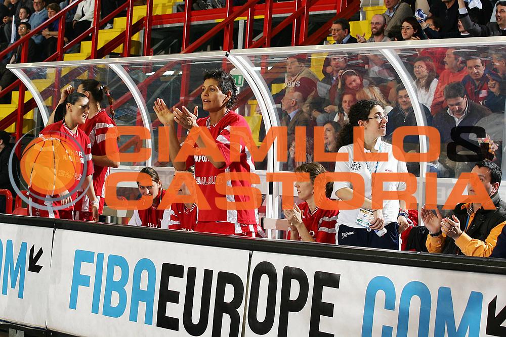 DESCRIZIONE : NAPOLI FIBA EUROPE CUP WOMEN-FIBA COPPA EUROPA DONNE 2004-2005 <br /> GIOCATORE : TEAM PHARD NAPOLI <br /> SQUADRA : PHARD NAPOLI <br /> EVENTO : FIBA EUROPE CUP WOMEN-FIBA COPPA EUROPA DONNE 2004-2005 <br /> GARA : FENERBAHCE SK ISTANBUL-PHARD NAPOLI <br /> DATA : 03/04/2005 <br /> CATEGORIA : Esultanza <br /> SPORT : Pallacanestro <br /> AUTORE : Agenzia Ciamillo-Castoria/A.Delise